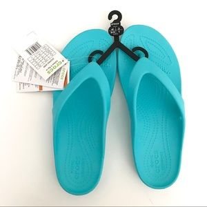 Crocs Womens Size 8 Kadee II Flip Blue